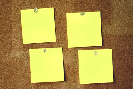 The surface of the post-its is intentionally made to look smooth, and it is not an effect of oversuse of a noise reduction application Stock Photo - 310706