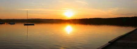 evening lake - panoramic view Stock Photo - 320357