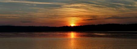 murk: sunset panorama Stock Photo