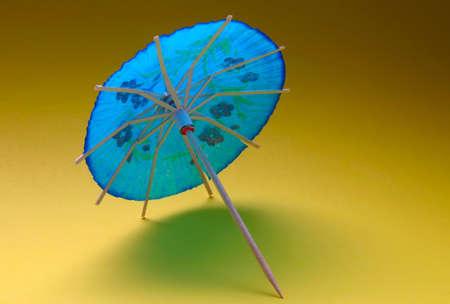 cocktail umbrella - blue #2 photo