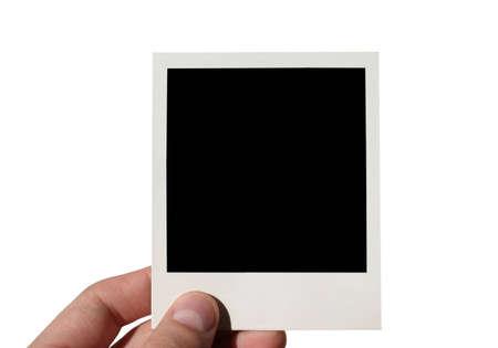 holding blank - isolated photo
