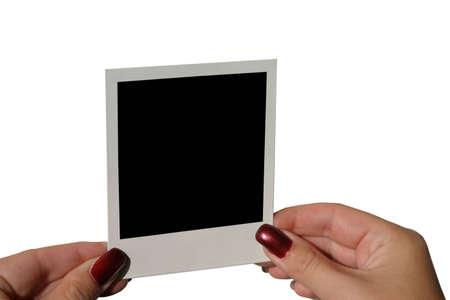 holding blank - isolated #2 photo