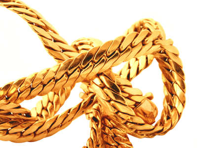 affluence: gold chain details Stock Photo