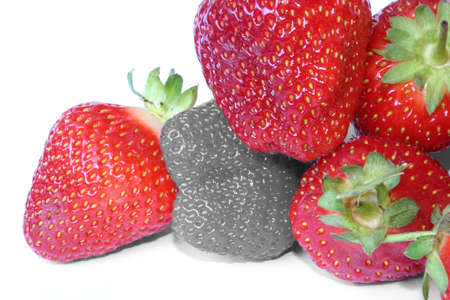 deviate: strawberry outcast Stock Photo