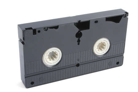 vhs videotape: isolated VHS tape on white Stock Photo