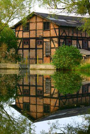 old brick building - vertical photo