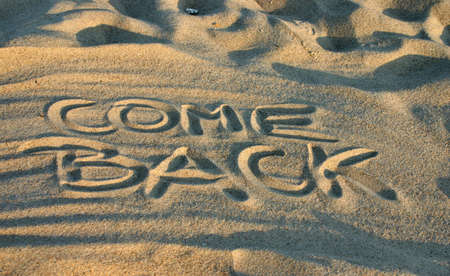 come back Stock Photo