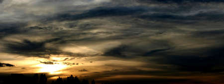 incredible sunset - panoramic view Stock Photo - 347955
