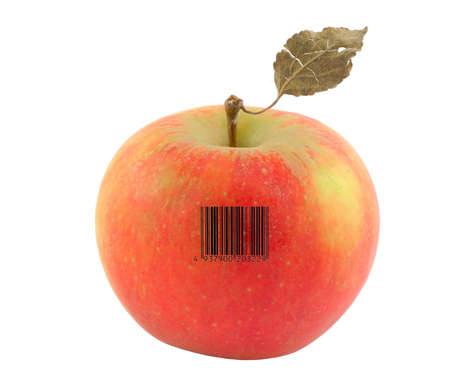apple with a bar code of a non-existent product