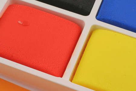 playdoh: colorful plasticine blocks
