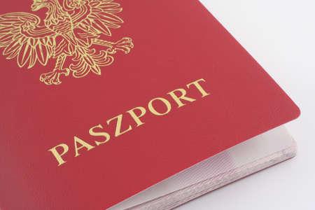 Polish Passport Stock Photo