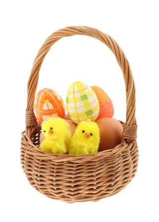 easter basket  pure white background #2 photo