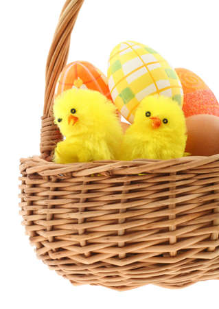 easter basket  pure white background photo
