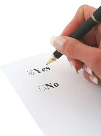 approbation:  I SAID YES #2 Stock Photo