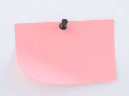 pink paper sheet  pinned Stock Photo - 387496