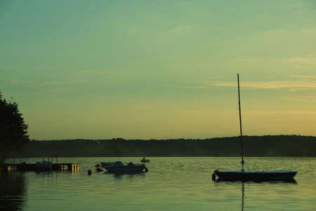 moody sunset at the bay photo