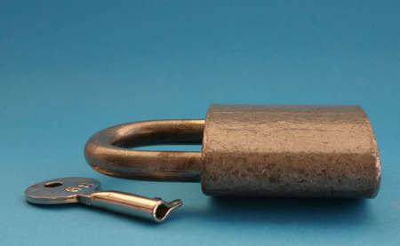 padlock and key photo
