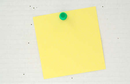 bulletinboard: post it pinned to a cardboard background Stock Photo