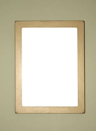 the borderline: simple golden frame, ready to fill in