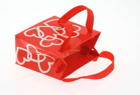 love gift bag on white photo