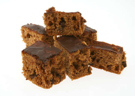 pieces of ginger cake on white Stock Photo - 412117