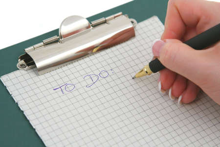to do list: female hand writing TO DO list