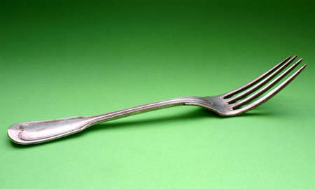 old silver fork Stock Photo - 433125