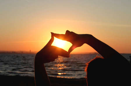 sunset capture Stock Photo - 433120