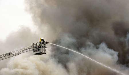 depository: firefighter on duty Stock Photo