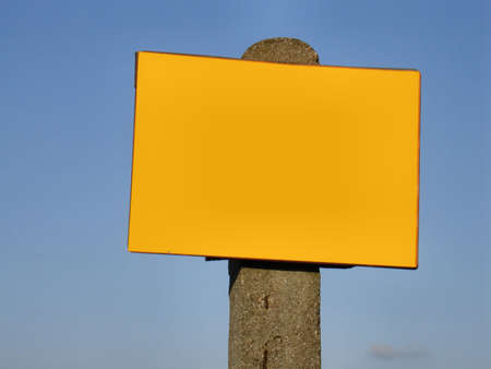 amend: sign post -  ready to fill in
