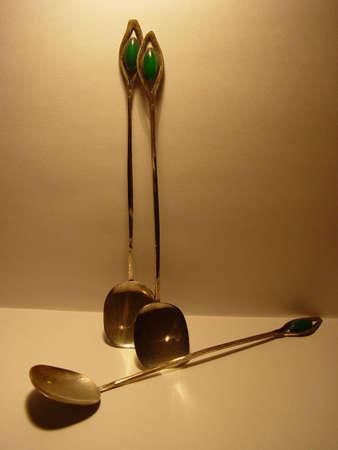 cucharas antiguas Foto de archivo - 449587