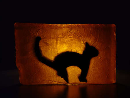 murk: cat - stained glass
