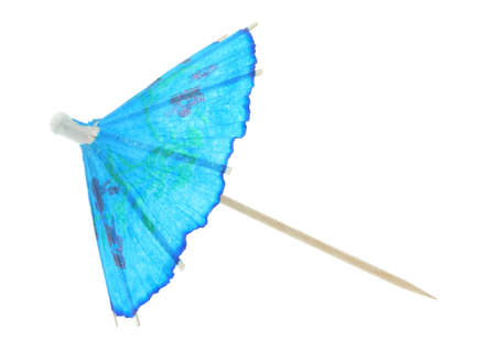 asian cocktail umbrella - pure white background photo