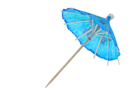 asian cocktail umbrella - pure white background #2 photo