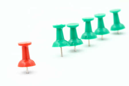 individualist: metaphor of group leader - pushpins