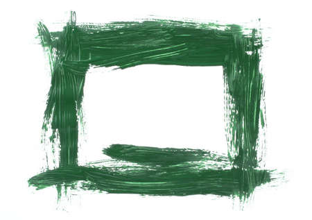 green painted frame photo