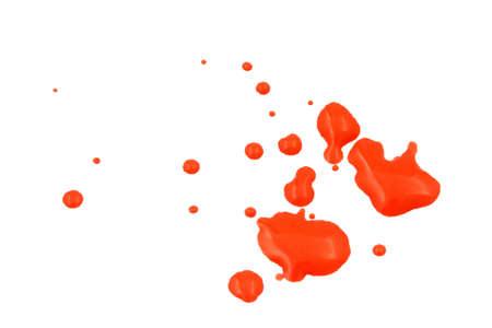 red wet paint splash