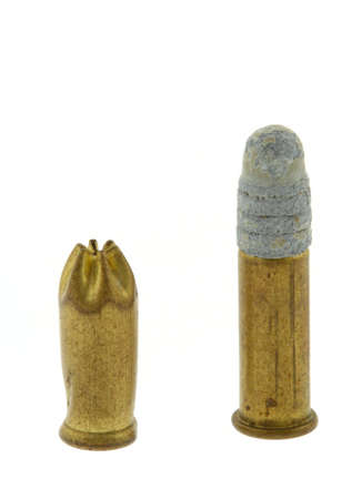 two bullets on white photo