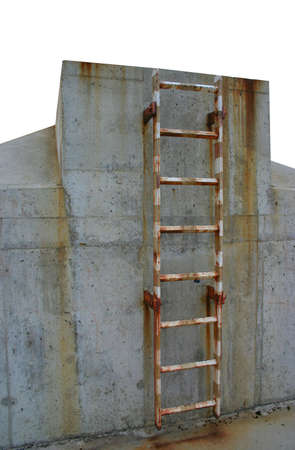 wastelands: rusty ladder leading to a winners place