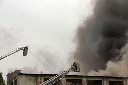 stifle: firefighters on duty Stock Photo