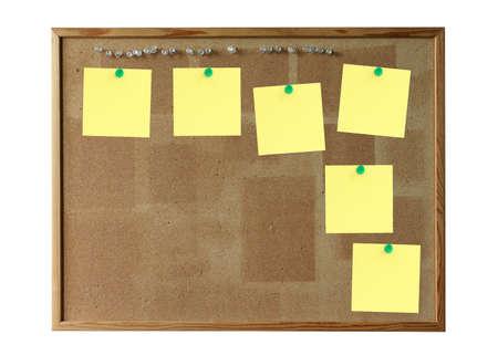 memorise: cork board with empty post-its