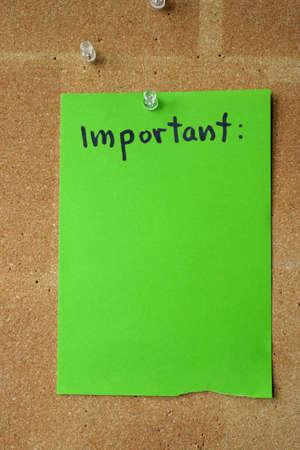 memorise: important
