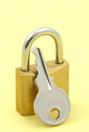 padlock and key photo