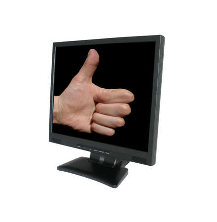 accession: thumb up in LCD