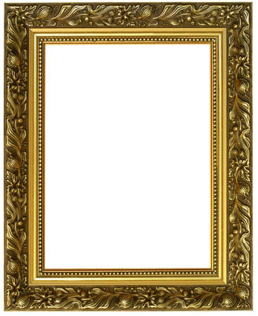 horizontal golden frame Stock Photo - 525113