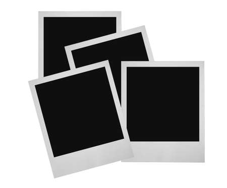 bounds: stack of photo frames Stock Photo