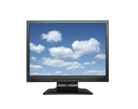 wide lcd with gorgeous sky Stock Photo