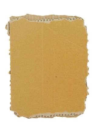 ridged: cardboard piece on white Stock Photo