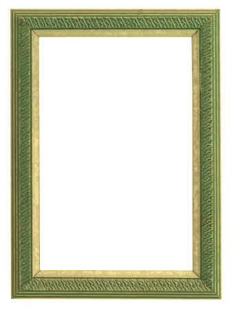 green and gold frame Stock Photo - 556945