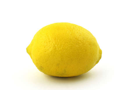 lemon on white Stock Photo